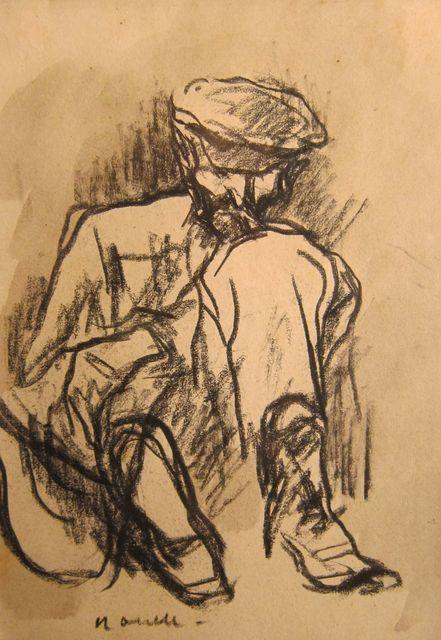 , 'Man sitting on the floor,' 1897-1900, Artur Ramon Art