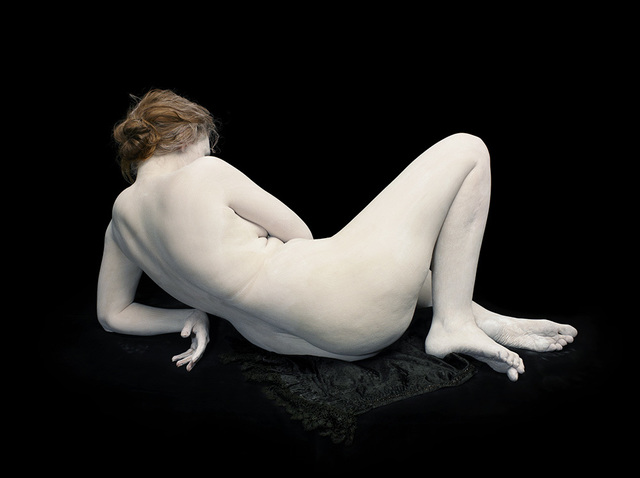 Nadav Kander, 'Audrey with toes and wrist bent', Photography, Chromogenic colour print, Blindspot Gallery