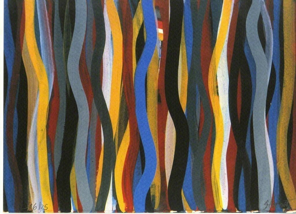 Vertical Line Art : Vertical line garden by julia jamrozik coryn kempster québec