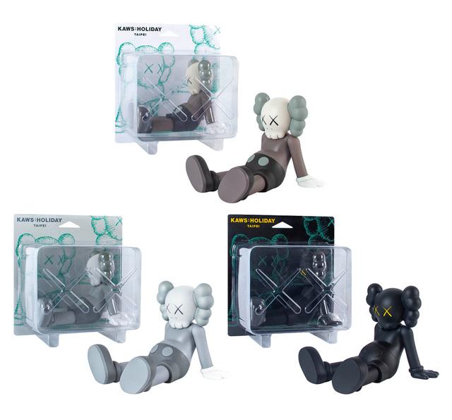 KAWS, 'KAWS Taipei Holiday Companion set of 3 (KAWS Companion set)', 2019 , Sculpture, Vinyl paint, cast resin, Lot 180