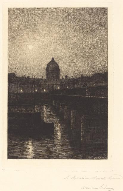 Maxime Lalanne, 'Pont des Arts', 1868, National Gallery of Art, Washington, D.C.