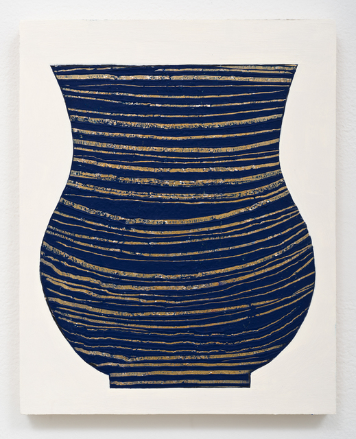 , 'Untitled Vase (Blue and Gold),' 2017, Lora Reynolds Gallery