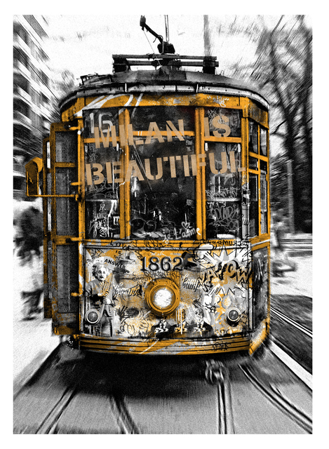 , 'Milan is Beautiful - Tram Gold,' 2019, Deodato Arte