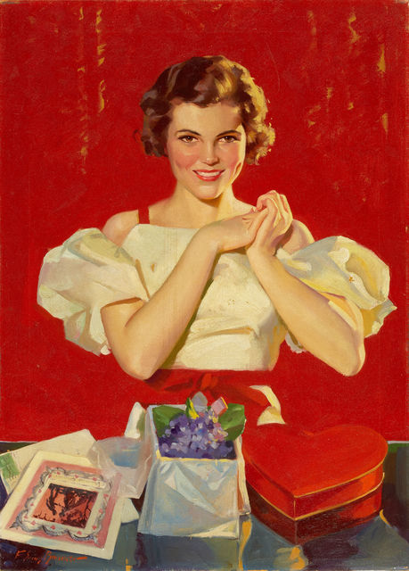 Frederick Sands Brunner, 'Valentines Day, Saturday Evening Post Cover', 1935, The Illustrated Gallery