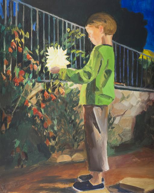 , 'Yonathan with fireworks 4,' 2014, Dvir Gallery
