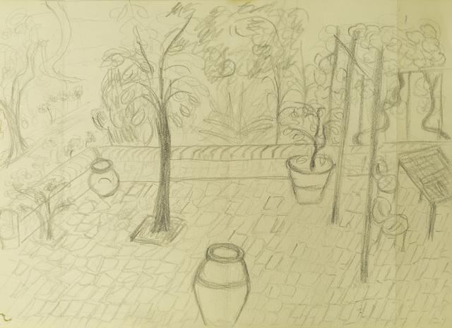 Annette Rowdon, 'The artist's garden in Tuscany', Roseberys