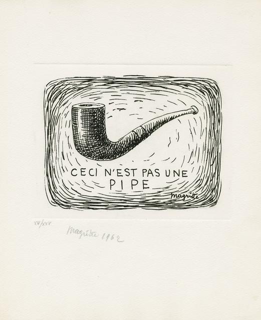 , 'Ceci n'est pas une pipe / L'air et le chanson,' 1962, Galerie Boisseree