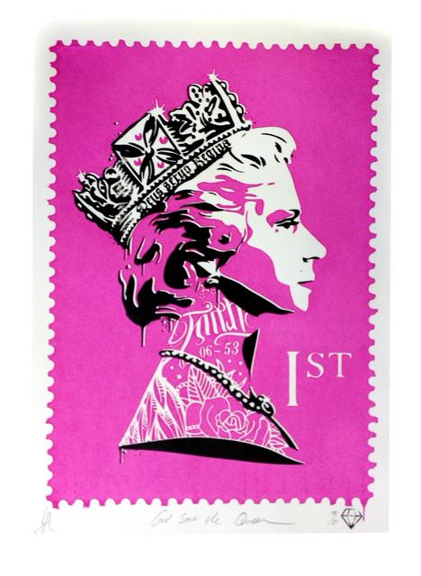JJ Adams, 'Gos save the Queen (pink)', 2014, Reem Gallery