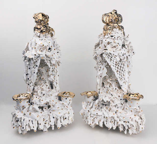 , 'Candelabra (Golden Bear & Golden Elephant),' 2016, Asya Geisberg Gallery