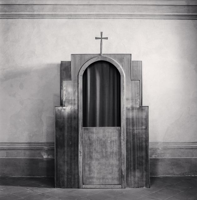 Michael Kenna, 'Confessional, Study 49, Chiesa di Santa Maria Assunta, Monozzo, Reggio Emilia, Italy', 2015, Huxley-Parlour