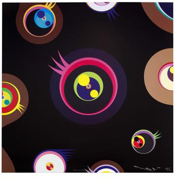 Takashi Murakami, 'Jellyfish Eyes Black 1', 2004, Dope! Gallery
