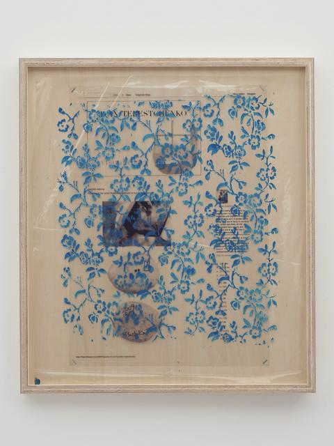 , 'Collaboration Study (Agathe's Ashtray – Blue),' 2019, MISAKO & ROSEN