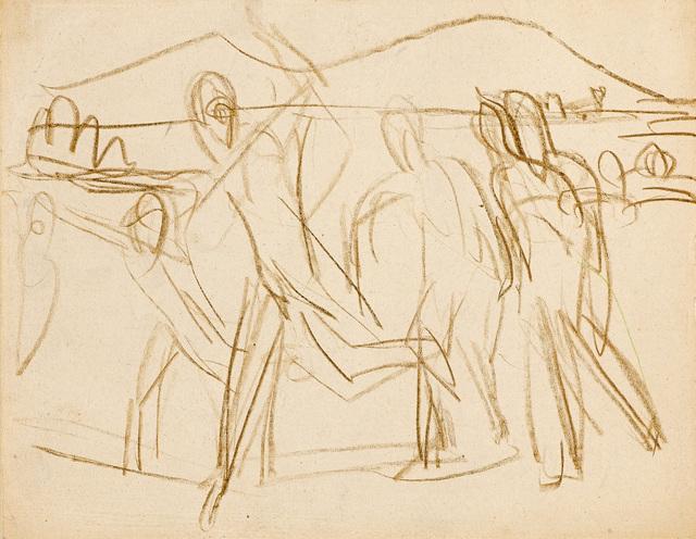 , 'Skiläufer ,' ca. 1925, Galerie Herold