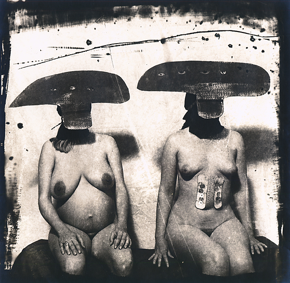 , 'I.D. Photograph from Purgatory, Two Women with Stomach Irritations,' 1982, Scott Nichols Gallery