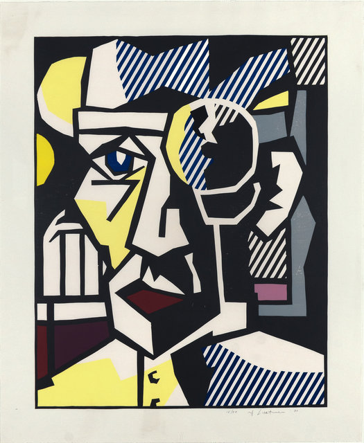 Roy Lichtenstein, 'Dr Waldman, from Expressionist Woodcut Series ', 1980, Print, Woodcut with embossing on Arches Cover paper, Fine Art Mia