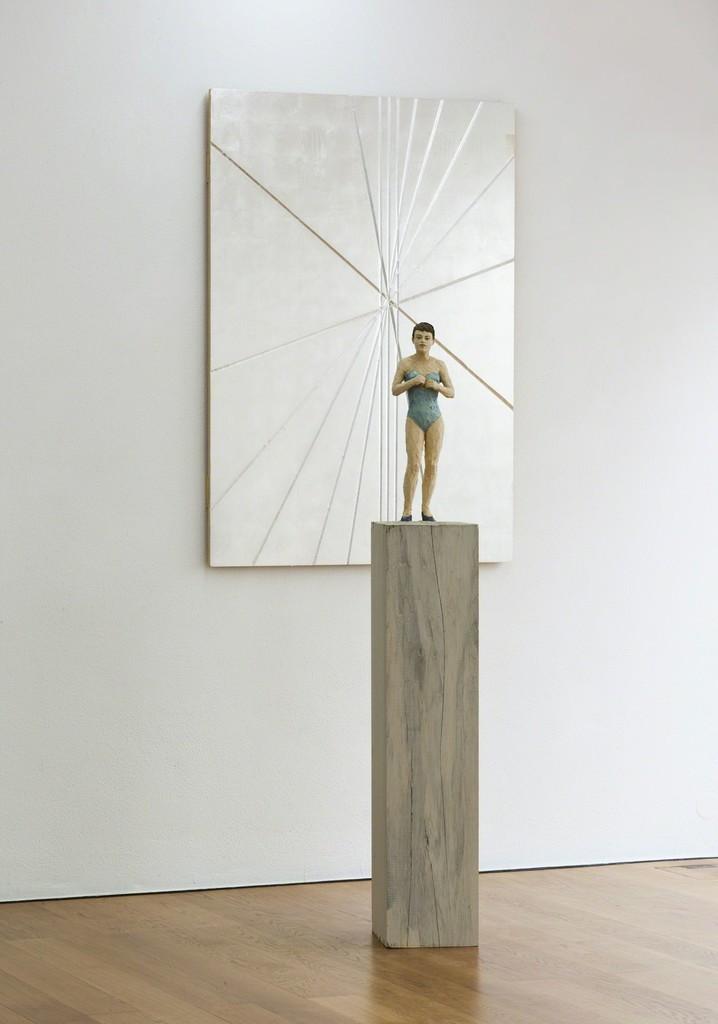 Installation view Stephan Balkenhol at Galerie Rüdiger Schöttle, 2015. Photo: Wilfried Petzi.