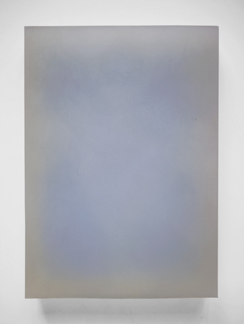 Steven Day, 'Untitled blue', Painting, Blue wax, oil and gesso on wood, Gallery Nosco