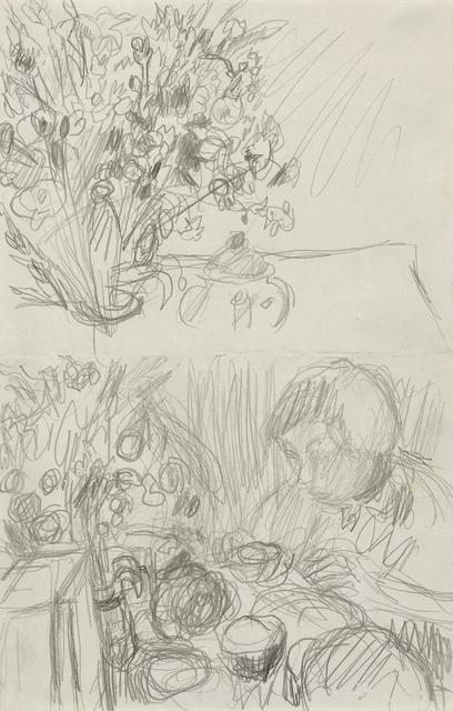 ", 'Two Studies for ""Le Petit Déjeuner"",' , Jill Newhouse Gallery"