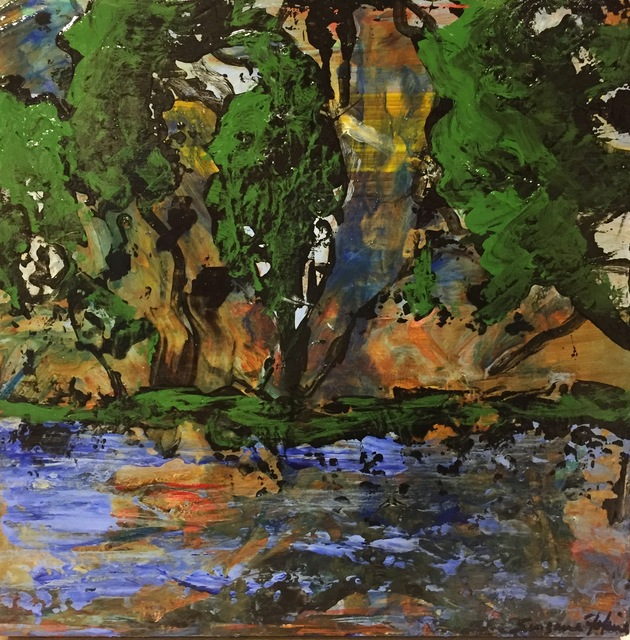 , 'Abstract Landscape w/ Trees,' 2016, The South Street Gallery