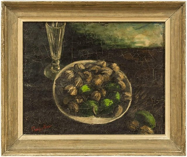 Unknown, 'Still Life Bowl Of Nuts and Fruits signed Hartigan', Mid-20th Century, Lions Gallery