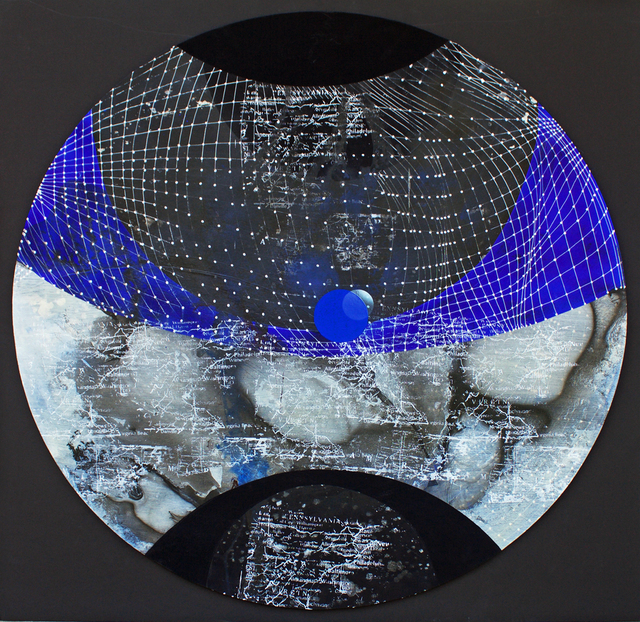 , 'Cambalache: Round, Blue & Black (District #1),' 2017, Addison/Ripley Fine Art