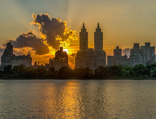 Jeffrey Friedkin, 'Central Park Sunset', 2018, Photography, Photography on Metal, The Galleries at Salmagundi