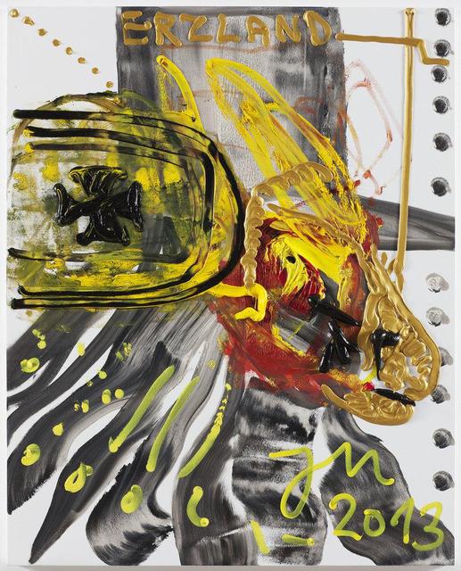 , 'Der HUMMERHUND SPUCKT KEINE SPUCKE (MEHR) INS ALLGEILE NÄPFCHEN,' 2013, Patricia Low