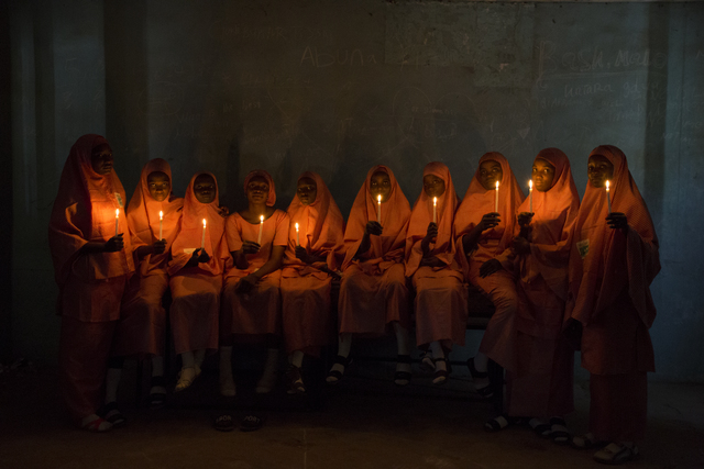 , 'School Girls with Candles (2),' 2017, Red Hook Labs