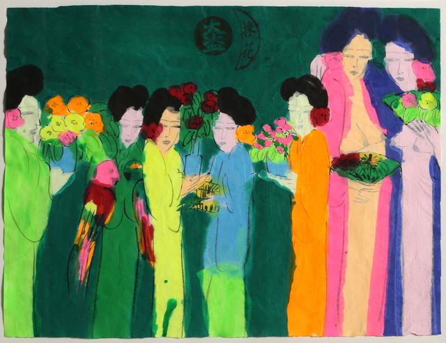 Walasse Ting 丁雄泉, 'Seven Geishas', ca. 1980, RoGallery