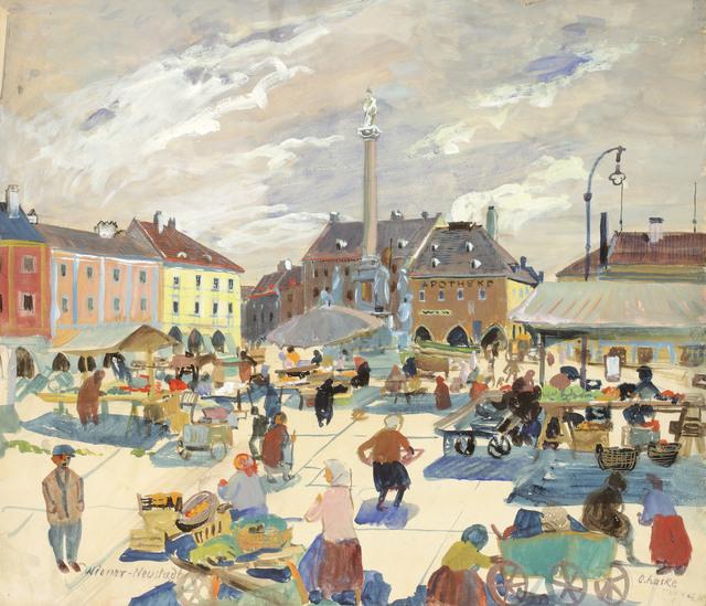 , 'Market in Wiener Neustadt,' 1929, Galerie Kovacek & Zetter