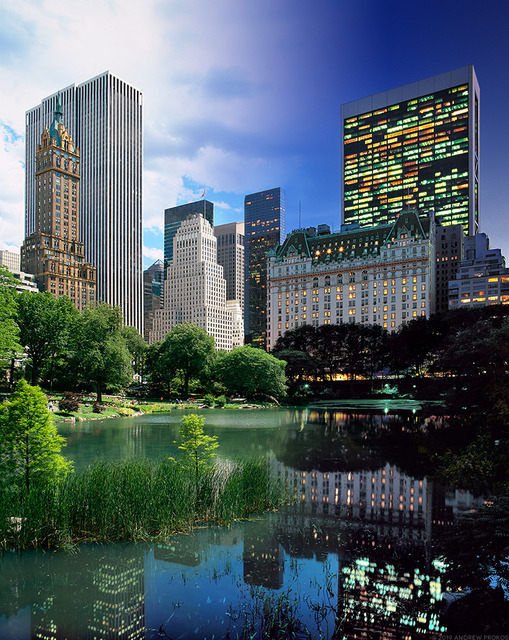 , 'Night & Day - Central Park Pond and Plaza Hotel ,' 2015, Andrew Prokos Gallery