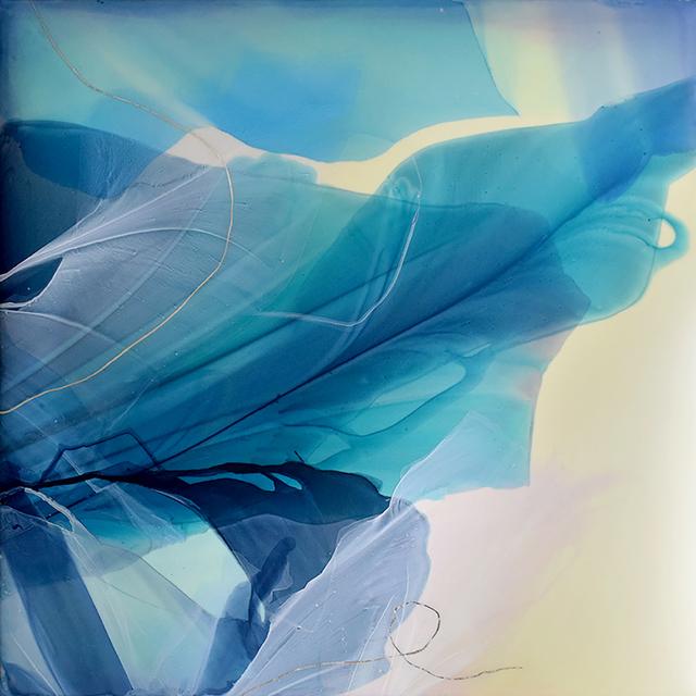 Marina Savashynskaya Dunbar, 'Singing River II', 2019, Painting, Water-media on canvas, Spalding Nix Fine Art
