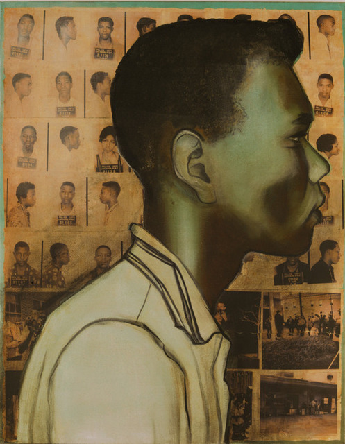 Charlotta Janssen, 'Charles Cox (Profile) 18 yrs, from Jackson MS Arrested 7/13/1961 Jackson MS', 2011, Hudson Milliner Art Salon