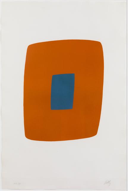 , 'Orange with Blue,' 1964-1965, Susan Sheehan Gallery