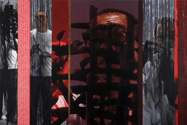 FX Harsono, 'Screen Shot from Writing in the Rain #1', 2011, Tyler Rollins Fine Art