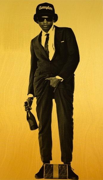 , 'Eazy-E Cojones (Gold),' 2014-2017, The Know Contemporary