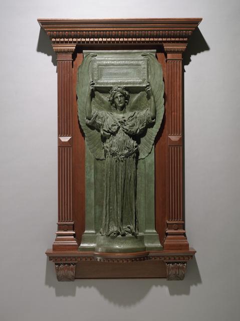 Augustus Saint-Gaudens, 'Amor Caritas', Modeled 1898; cast probably 1898, Sculpture, Bronze, lost wax cast, Seattle Art Museum