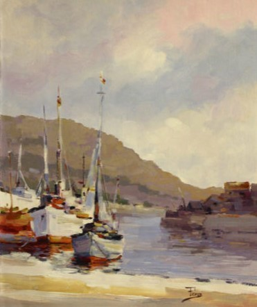 , 'White Boat Pier,' , The Loft Fine Art