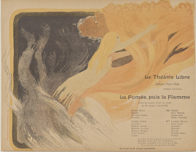 , 'Program for Le Théatre Libre's production of The Smoke, then the Flame,' 1895, Hammer Museum