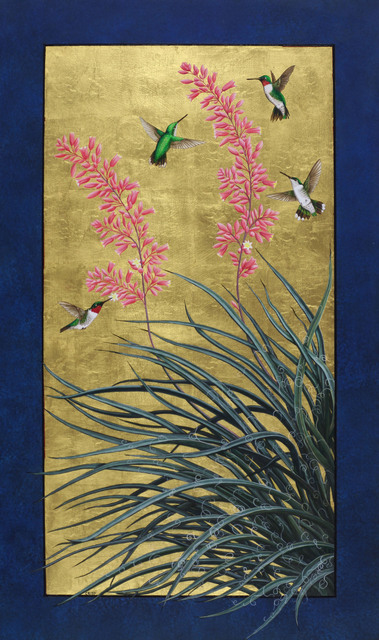 , 'Red Yucca and Ruby-Throated Hummingbirds,' 2018, William Reaves | Sarah Foltz Fine Art