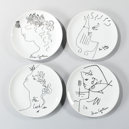 Four Luncheon Plates
