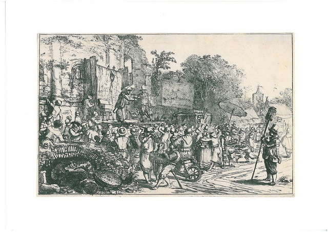 , 'Country-fair with charlatans,' ca. 1650, Helmut H. Rumbler Kunsthandel