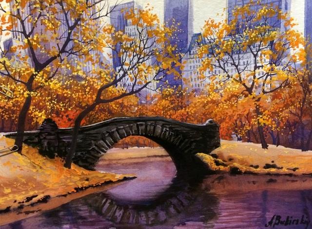 , 'Central Park Pond,' , LaMantia Fine Art Inc.