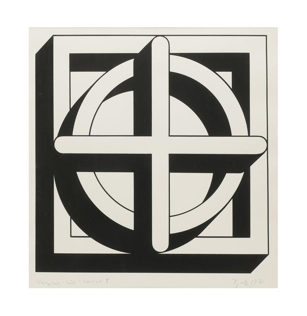 , 'Square-Circle-Cross II,' 1977, The Mayor Gallery