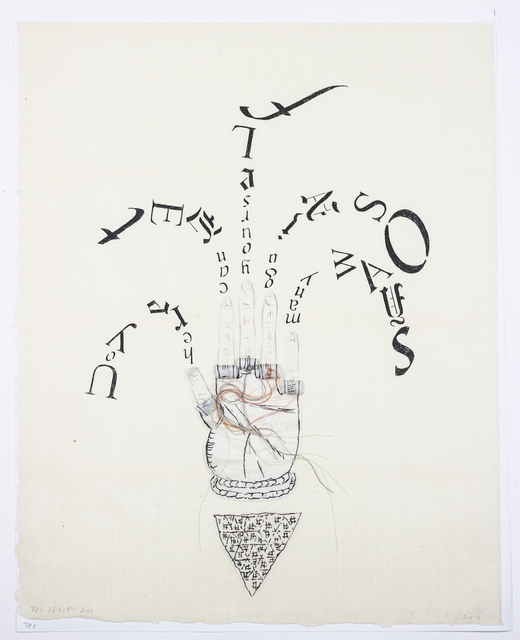 Lesley Dill, 'Fingertip Scroll', 2013, CITYarts Benefit Auction