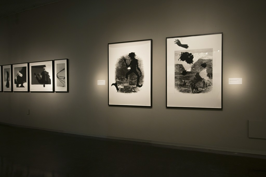 "Installation view of ""Emancipating the Past: Kara Walker's Tales of Slavery and Power"" at Bellevue Arts Museum, Bellevue (2016) Courtesy of Bellevue Arts Museum"