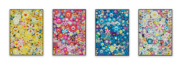 Takashi Murakami, 'An Homage to Monogold 1960 C, An Homage to Monopink 1960 C, An Homage to Yves Klein, Multicolor C, and An Homage to IKB 1957 (four works)', 2012, Heritage Auctions