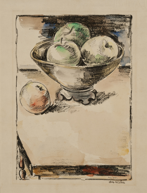 Max Weber, 'Apples', ca. 1928, Print, Lithograph hand-colored with watercolor, Gerald Peters Gallery