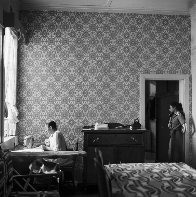 , 'In the Docrat living room before its destruction under the Group Areas Act, 20th Street, Fietas, Johannesburg. 1977,' 1977, Goodman Gallery