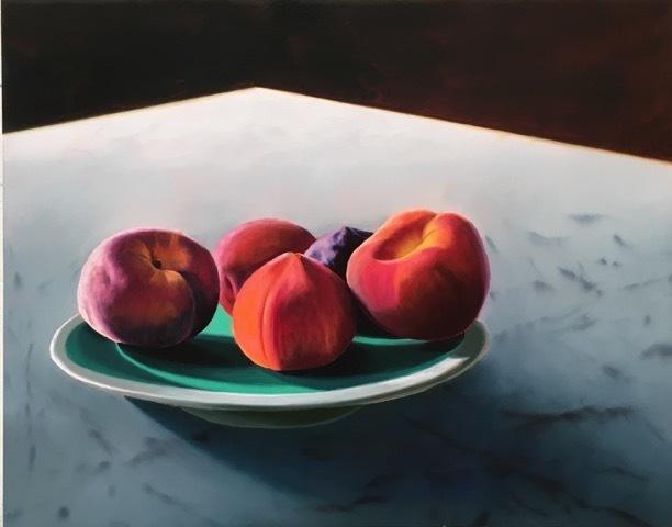 Bruce Cohen, 'Peaches', 2019, Painting, Oil on panel, Berggruen Gallery